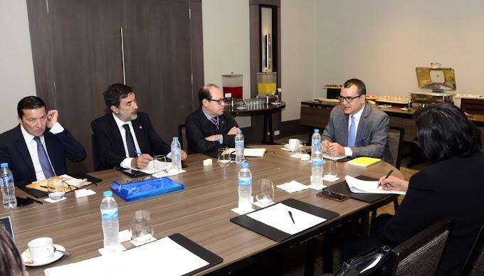 Magistrado Tribunal Superior Electoral se reúne con Avanzada enviada por Unión Interamericana de Organismos Electorales