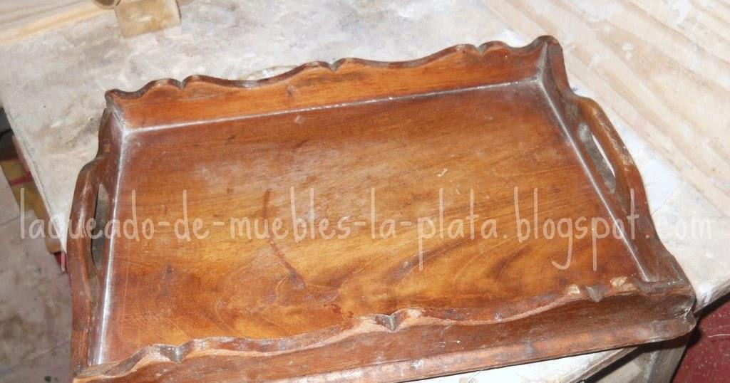Restauraci n bandeja de madera patina muebles de madera for Restauracion tejados de madera