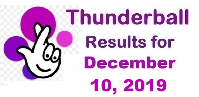 Thunderball Results for Tuesday, December 10, 2019