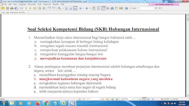 Download contoh soal pppk skb hubungan internasional2 dan kunci jawaban