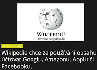 Wikipedie chce za používání obsahu účtovat Googlu, Amazonu, Applu či Facebooku. - AzaNoviny