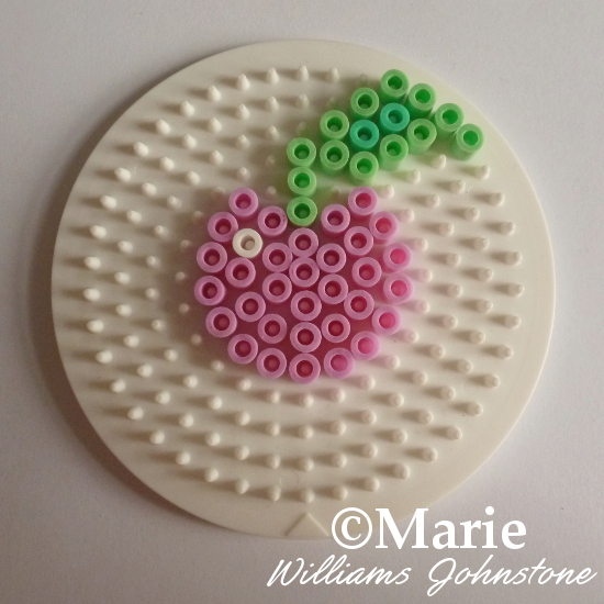 DIY Cute cherry perler bead pattern tutorial photo instructions craftymarie.com how to make