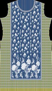 Vector Print Suit Kurtis