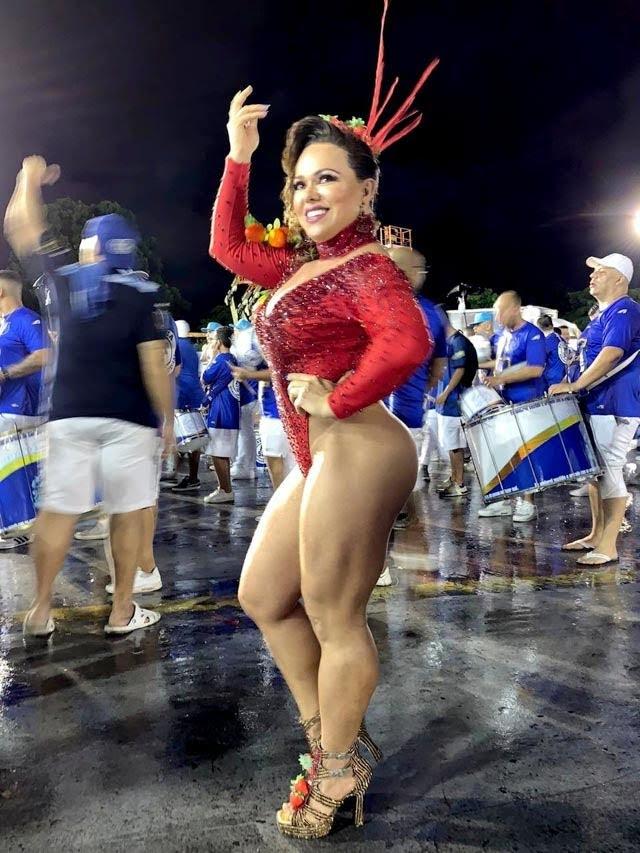 Andréa Capitulino , Rainha de Bateria da Acadêmicos do Tatuapé. Foto: Renato Cipriano/Divulgação
