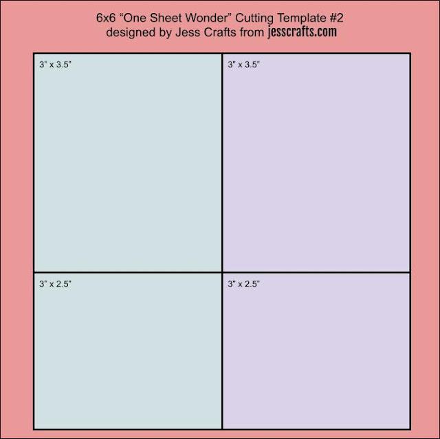 6x6 One Sheet Wonder Template #2 by Jess Crafts