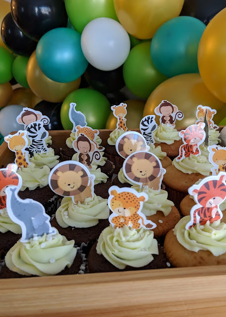 baby shower cupcakes animals