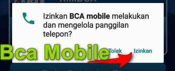 Aplikasi Bca klik Izinkan
