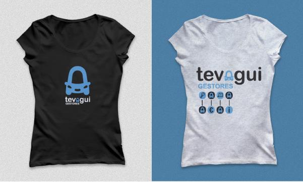 Aplicación de logotipo en camisetas. Identidad corporativa. Branding.