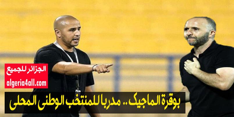المنتخب المحلي الجزائري,#مجيد_بوقرة الدولي السابق يعين مدربا للمنتخب الوطني المحلي.