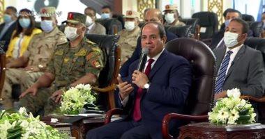 السيسي : طلبات التصالح وصلت ٧٠٠ الف ولكنها لاتتعدي ١٠٪  وأطالب المصريين بمساعدة  الدولة