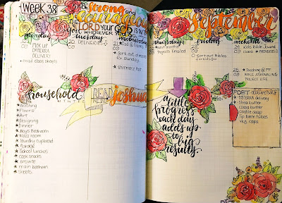 Next weeks planner pages and Shimmerz Paints!