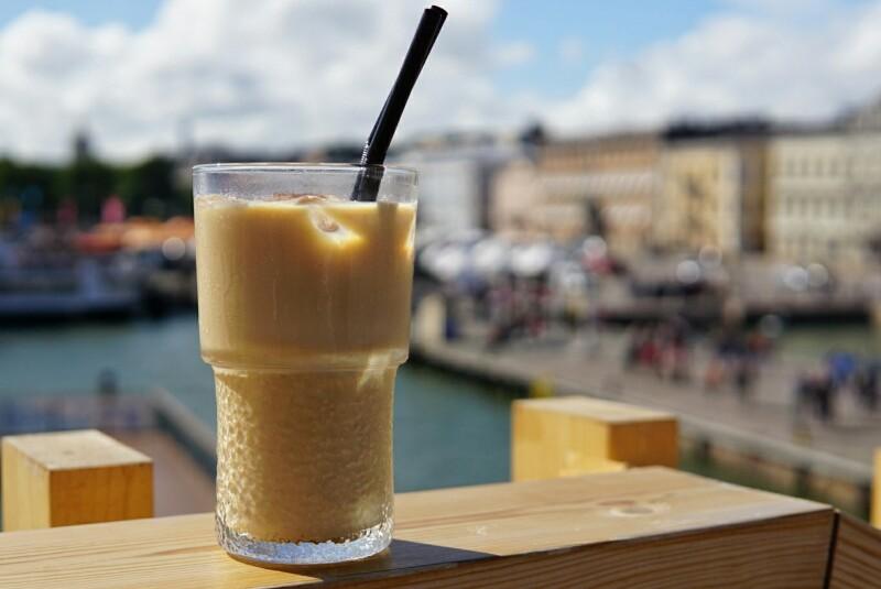 Helsinki, ice latte