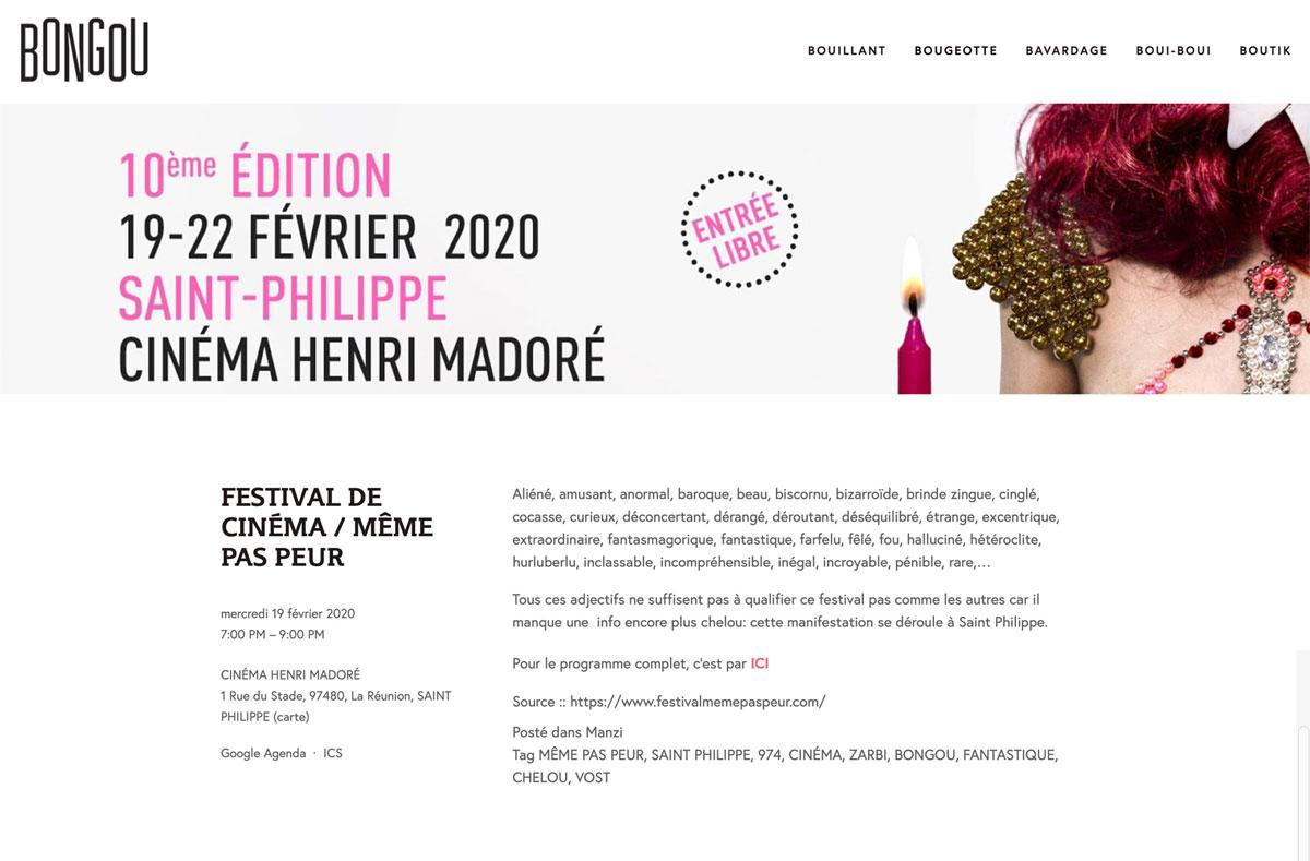 La 10ème édition du Festival MEME PAS PEUR dans BONGOU
