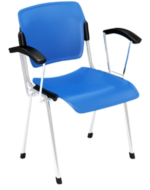 Cali Stack Chair with Arms by Via Seating