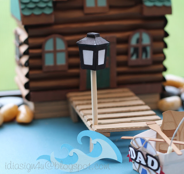 3D Paper Log Cabin and Boat Treat Boxes | Father's Day SVGCuts Challenge Entry | Dad's Cabin