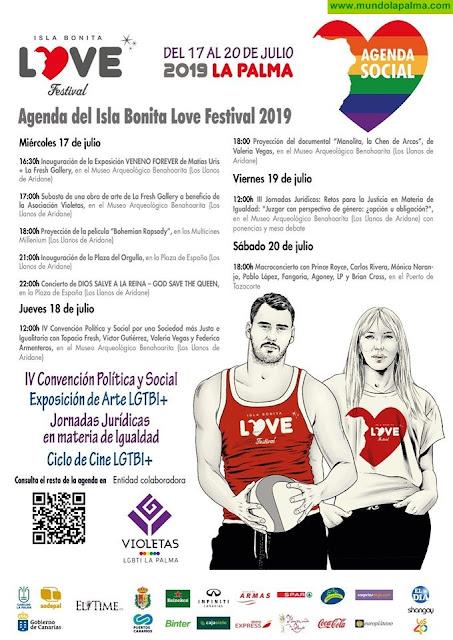La Palma abre sus puertas a la diversidad y la integración con la agenda de actos delIsla BONITA Love Festival - Agenda - Programa 2019