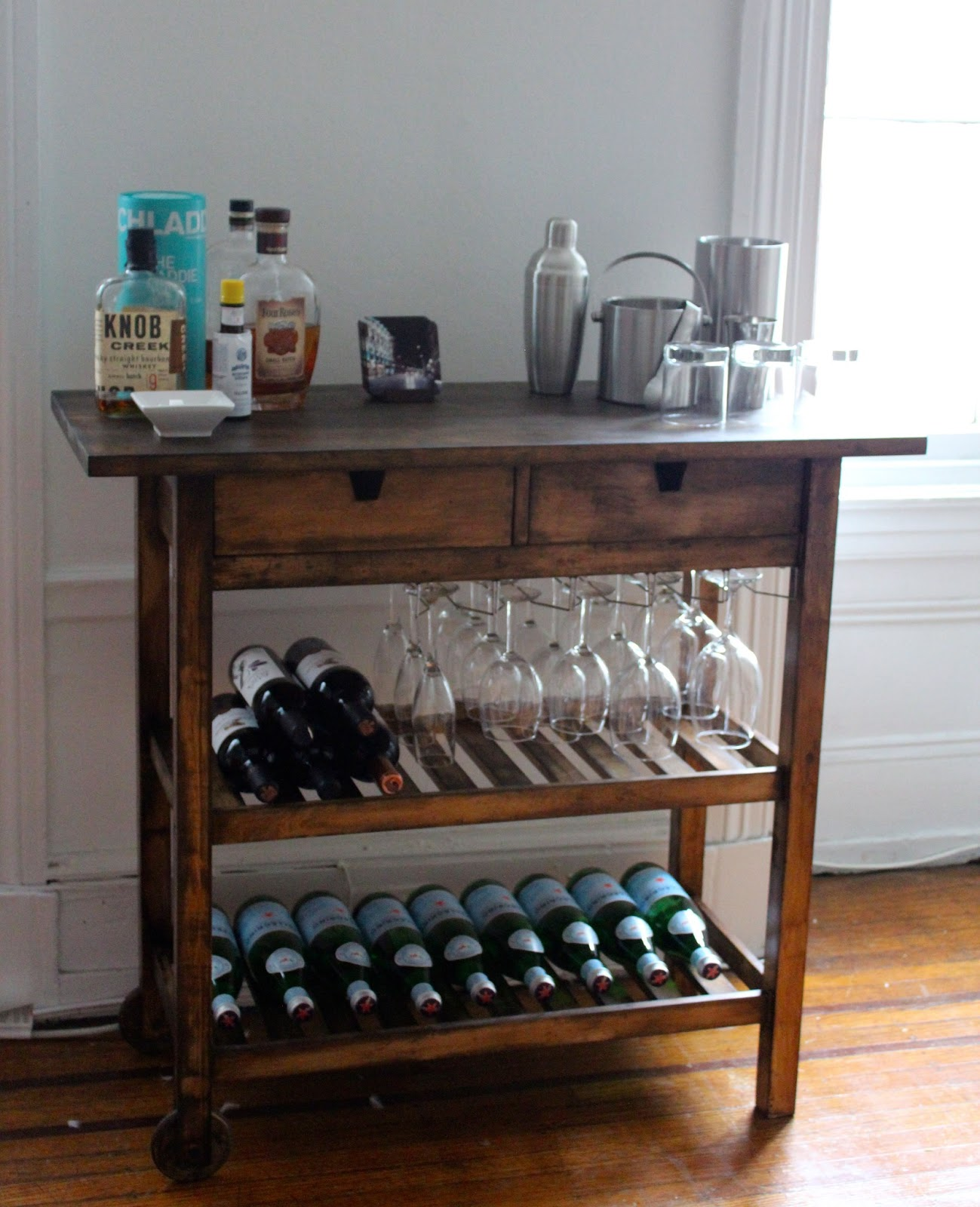 Ikea Kitchen Trolley With Wine Rack
