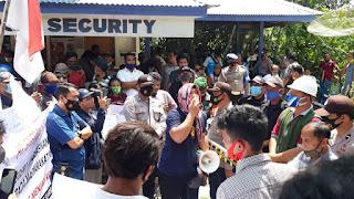 Unjuk Rasa di PLTA Pakkat, Masyarakat Minta Perusahaan Bayar CSR.