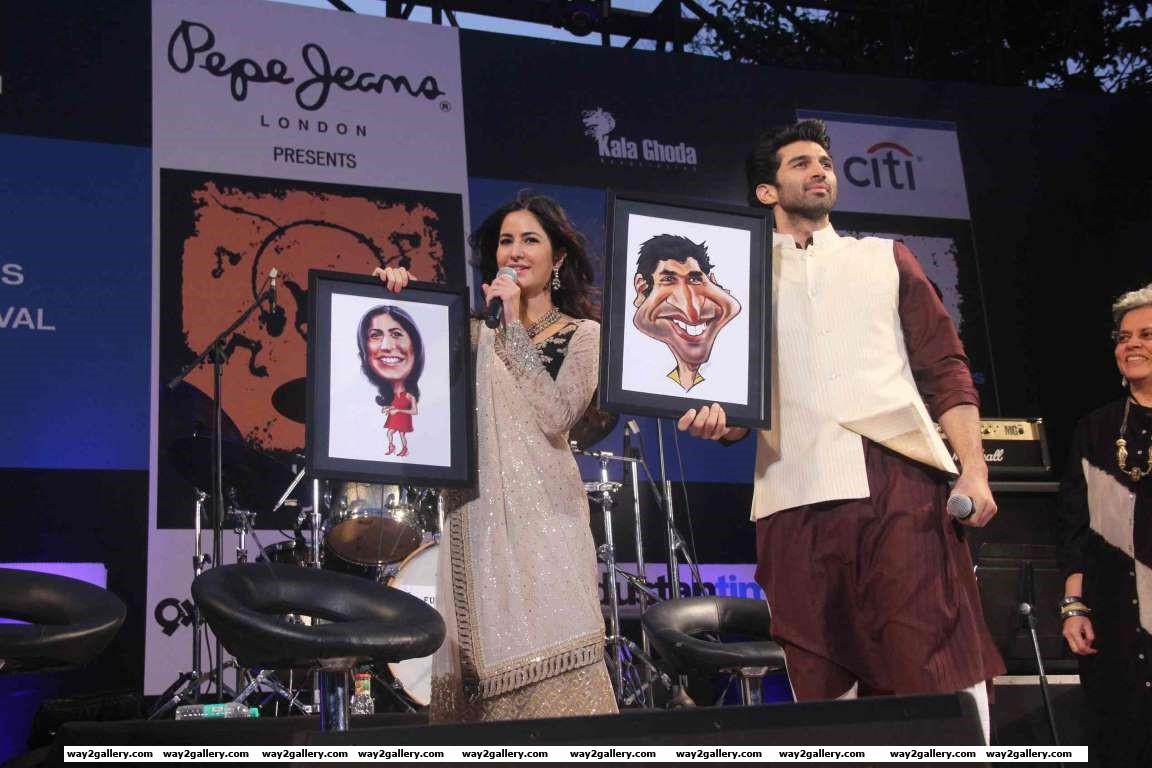 Katrina Kaif and Aditya Roy Kapur snapped at the closing ceremony of Kala Ghoda Festival