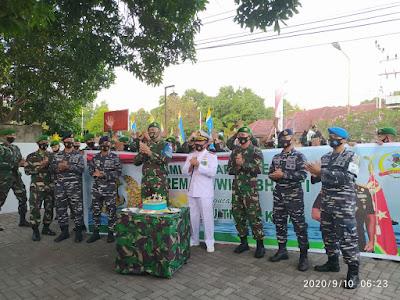HUT TNI Angkatan Laut, LANAL Mataram dapat Kejutan dari Polda NTB dan Korem 162/WB
