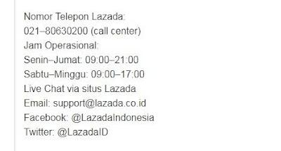 √ Cara Menghubungi Call center Lazada Bantuan Belanja Online Lazada 5
