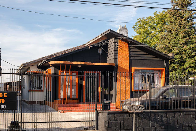 A fachada de uma casa na Anita Garibaldi