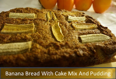 Banana Bread With Cake Mix And Pudding