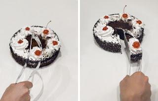 Utensilio muy ingenioso para servir el pastel o torta.