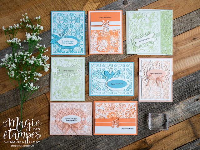 Ensemble de cartes avec le lot Band together Stampin' Up!
