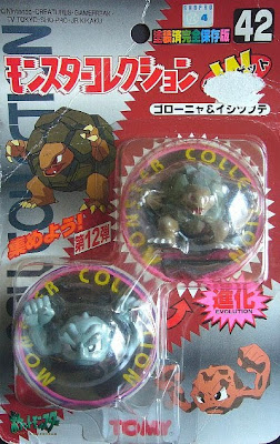 Geodude Pokemon figure Tomy Monster Collection series