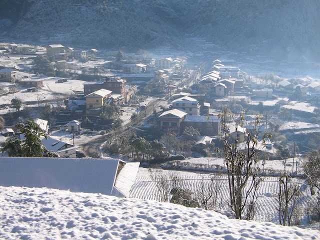 Snowfall in Himalayan Districts