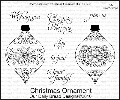 Our Daily Bread Designs Stamp Set: Christmas Ornament (Clear Stamps)