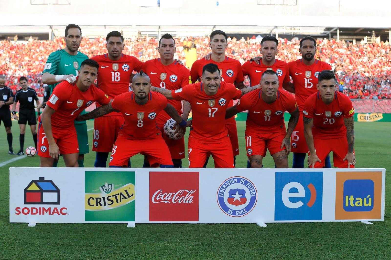 Formación de Chile ante Venezuela, Clasificatorias Rusia 2018, 28 de marzo de 2017