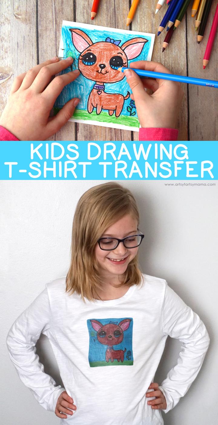 Kids Drawing T-Shirt Transfer