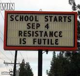 resistance is futile funny sign