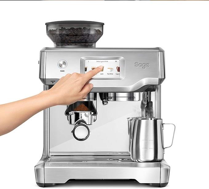 Sage SES880BSS the Barista Touch Semi Automatic Espresso Coffee Machine