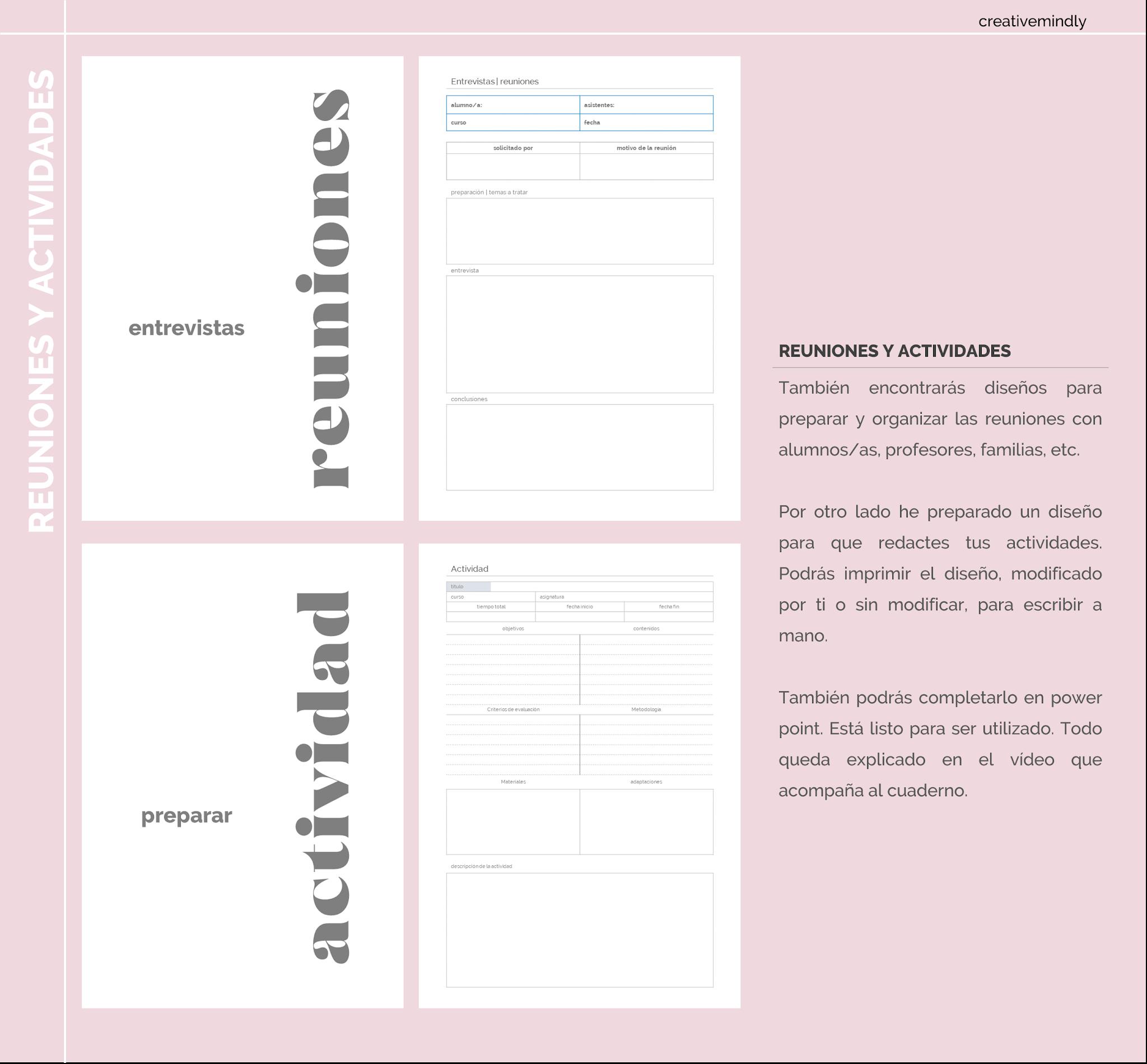 cuaderno de profesor imprimible