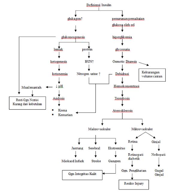 askep diabetes melitus tipe 2 dengan gangren