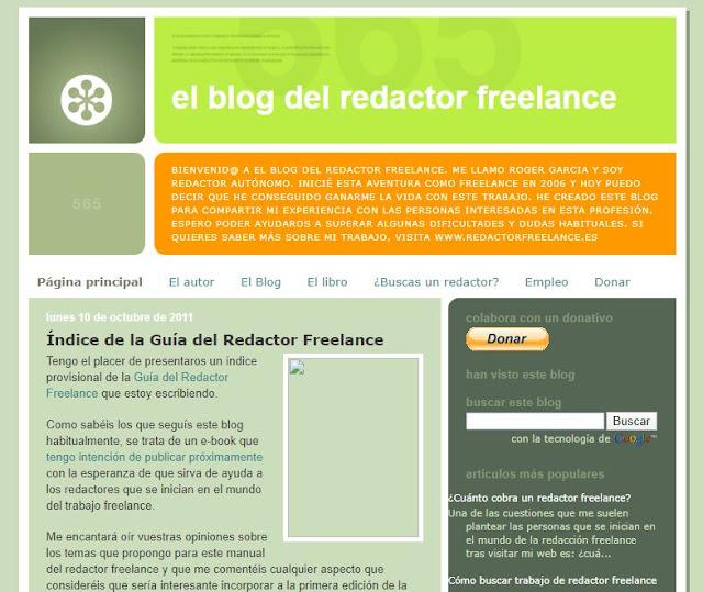 el blog del redactor freelance primeros años
