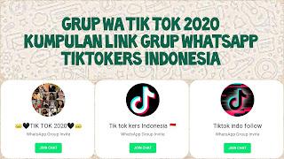 Link grup whatsapp tiktok 2020