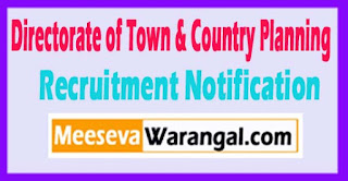 DTCP Directorate of Town & Country Planning Recruitment Notification 2017 Last Date 18-05-2017