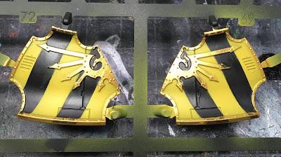 Adeptus Titanicus Legio Ignatum Warlord Titan WIP - armor