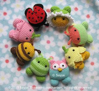 Amigurumi Animals Easy : Garden Pals: easy Amigurumi crochet pattern - Sayjai ...