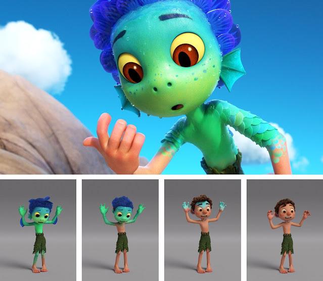 Pixar Luca Transformation