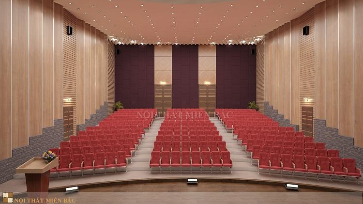 Tư vấn thiết kế hội trường - sắp xếp bố cục nội thất hội trường hợp lý, khoa học