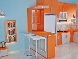 kitchen set minimalis rumah mungil di malang