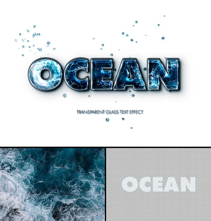 Combined Text and Photo Ocean Effect Mockup 383354691
