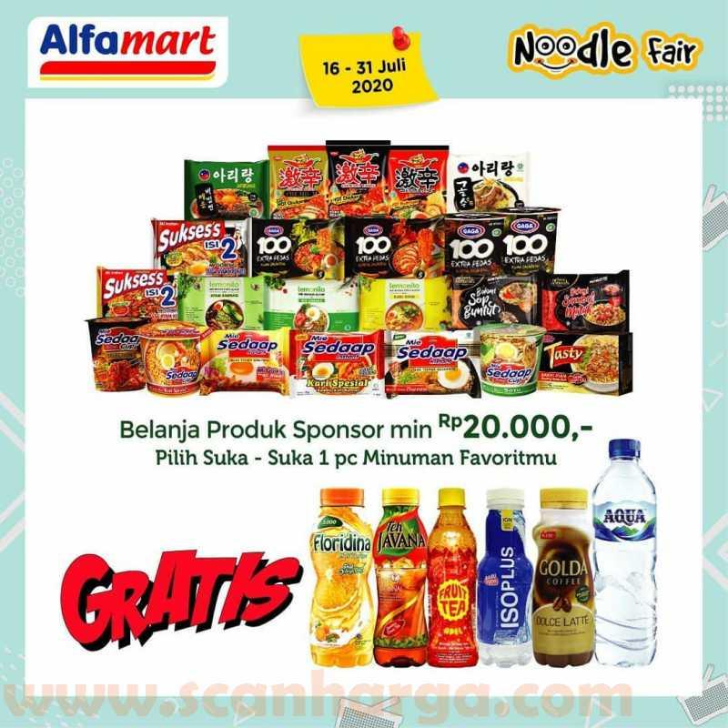 Promo Alfamart Noodle Fair Periode 16 - 31 Juli 2020