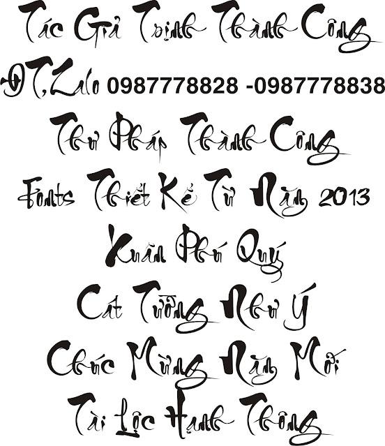 Chia sẻ Bộ Fonts thư Pháp Thành Công Cực Đẹp