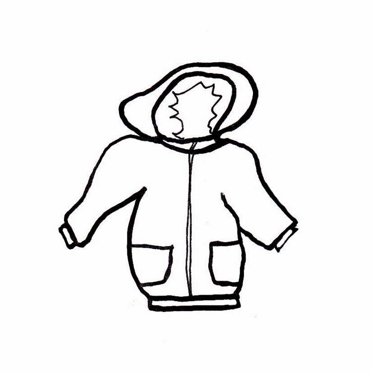 jacket clipart black and white - photo #31